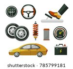car  auto  automobile and set... | Shutterstock .eps vector #785799181