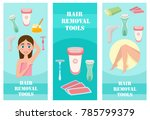 vector flat hair removal... | Shutterstock .eps vector #785799379