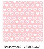 vintage cute seamless pink... | Shutterstock .eps vector #785800669