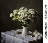 white daisy still life | Shutterstock . vector #785804095
