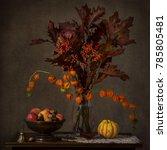 Autumn Leaves Still Life Flowe...