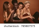 smiling female models with... | Shutterstock . vector #785807575