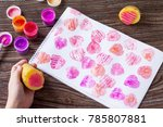 the child makes a... | Shutterstock . vector #785807881