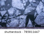 large ice chunks floating down... | Shutterstock . vector #785811667