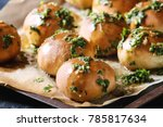 traditional ukrainian homemade... | Shutterstock . vector #785817634