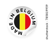 made in belgium label tag | Shutterstock .eps vector #785819959
