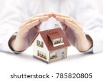 protect your house  | Shutterstock . vector #785820805