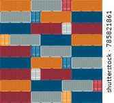 container logistics and... | Shutterstock .eps vector #785821861