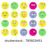 set of emoticons  emoji... | Shutterstock .eps vector #785823451