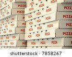 Boxes for pizza delivery - stock photo
