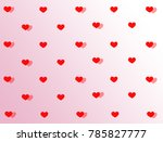 red heart pattern with pink and ... | Shutterstock . vector #785827777