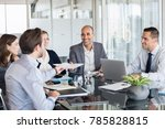 business man passing over... | Shutterstock . vector #785828815
