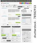 web design elements set. online ... | Shutterstock .eps vector #78582913