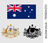 the coat of arms of australia | Shutterstock .eps vector #785834251
