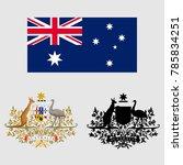 the coat of arms of australia | Shutterstock .eps vector #785834251