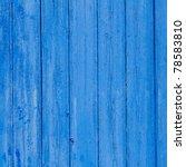 Aged Grunge Weathered Blue Doo...