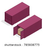 isometric vector large metal... | Shutterstock .eps vector #785838775