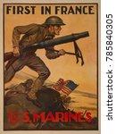 world war 1. first in france  u.... | Shutterstock . vector #785840305