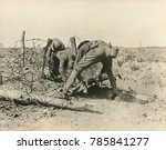 allied soldiers extricate a... | Shutterstock . vector #785841277