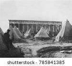 tent village near the temple of ... | Shutterstock . vector #785841385