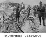 turkish infantry column at rest ...   Shutterstock . vector #785842909