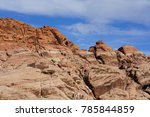 red rock canyon   erosion on... | Shutterstock . vector #785844859