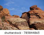 red rock canyon   erosion on... | Shutterstock . vector #785844865