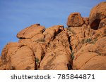 red rock canyon   erosion on... | Shutterstock . vector #785844871