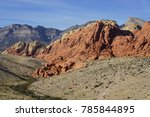 red rock canyon   erosion on... | Shutterstock . vector #785844895