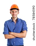 engineer portrait isolated on... | Shutterstock . vector #78584590