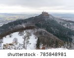 view on hohenzollern castle... | Shutterstock . vector #785848981
