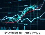 stock market or forex trading... | Shutterstock . vector #785849479
