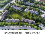 aerial view of a townhouse...   Shutterstock . vector #785849764