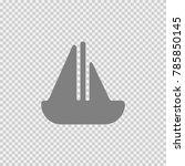 boat vector icon eps 10.... | Shutterstock .eps vector #785850145