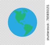 eearth simple vector... | Shutterstock .eps vector #785850151