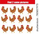 find the same pictures children ... | Shutterstock . vector #785857975