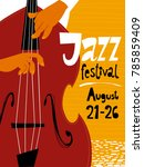 jazz festival poster with... | Shutterstock .eps vector #785859409