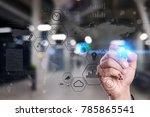 modern computer virtual screen. ... | Shutterstock . vector #785865541