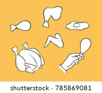 black and white contour of... | Shutterstock .eps vector #785869081