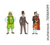 vector cartoon people in united ... | Shutterstock .eps vector #785869099