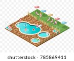 set of isolated high quality... | Shutterstock .eps vector #785869411