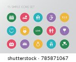 set of 15 editable amour icons. ... | Shutterstock .eps vector #785871067