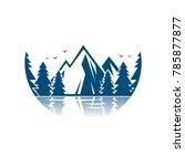mount with lake logo vector  | Shutterstock .eps vector #785877877