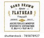 vintage hand made font ... | Shutterstock .eps vector #785878927