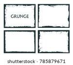 vector grunge frames.distress... | Shutterstock .eps vector #785879671