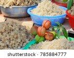 hardening extract of sterculia... | Shutterstock . vector #785884777