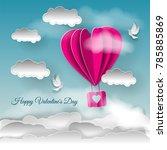 valentine's day illustration.... | Shutterstock .eps vector #785885869