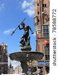 Neptune Fountain in Gdansk, Poland. - stock photo