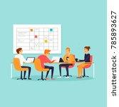 teamwork  office  workplace ... | Shutterstock .eps vector #785893627