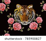 embroidery colorful floral... | Shutterstock .eps vector #785900827